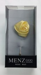 Lapel Rose Bud Lemon LRBUDLemon