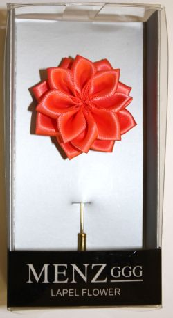 Lotus Lapel Flower 09  CORAL LLF-09-CORAL