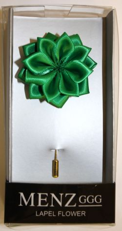 Lotus Lapel Flower 13  EMERALD LLF-13-EMERALD