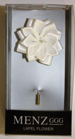 Lotus Lapel Flower 22 WHITE LLF-22-WHITE