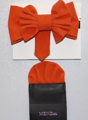 Man's Bowtie MBTV13206-Orange MBTV13206