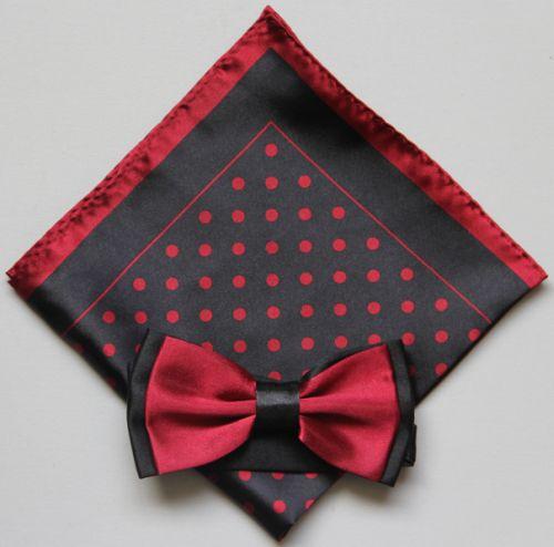 Polka Dot Bow Tie -Hanky 13375 pdbt13375