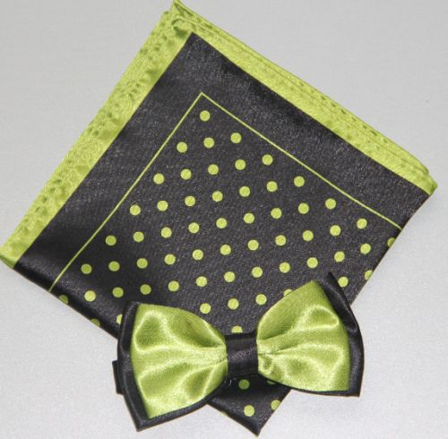 Polka Dot Bow Tie -Hanky 13378 pdbt13378