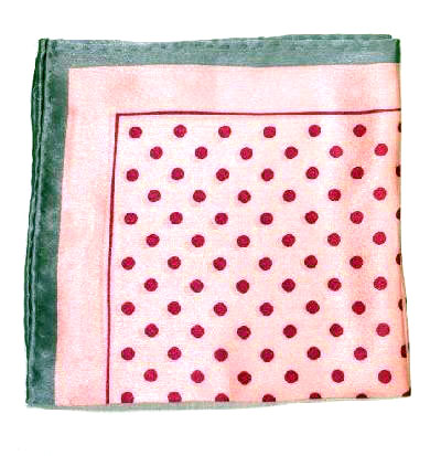 Printed Silk Hanky -pink-fuscia-grey PSH10 printedsilkhanky10