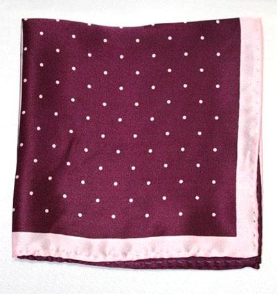 Printed Silk Hanky -purple-pink PSH40 printedsilkhanky40
