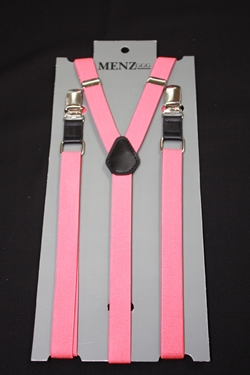 Skinny Suspenders Coral SSCoral