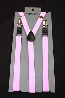 Skinny Suspenders Pink SSPink