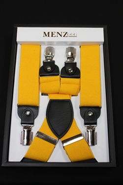 Solid Suspenders Yellow SUSYellow