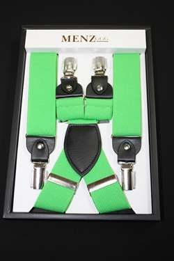 Solid Suspenders Apple Green SUSAppleGreen