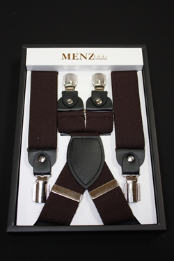 Solid Suspenders Brown SUSBrown
