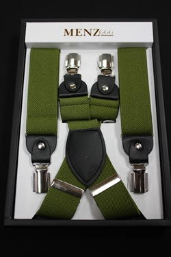 Solid Suspenders Olive SUSOlive