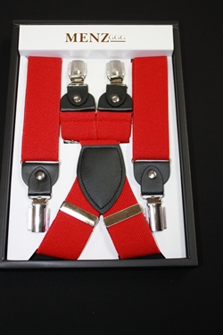 Solid Suspenders Red SUSRed